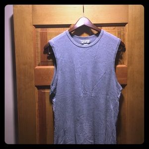 Abercrombie & Fitch Gray Cut Off Tee